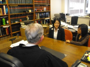 Mandarin and Cantonese Interpreter Isabella Zhang at work