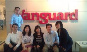 May Chen with Delegates from the Department of Labour Republic of China at Vanguard South Bank Office