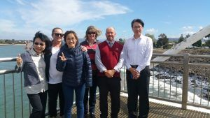 Taiwanese Inspectors Taking in the Coastal View after Geraldton WA Fisherman Co-Opt Visit